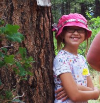Tiarra, my middle daughter at Girl Scout camp.