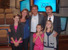 On the set with Dr. Oz after recording the show.