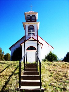The Catholic church over looking Pagosa Junction